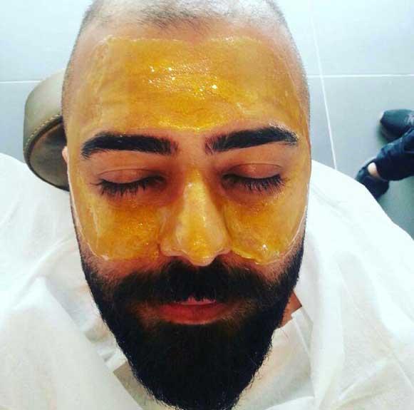 طریقه استفاده از ماسک طلا